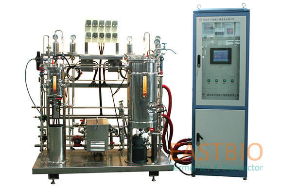 Floor Stand Simple Stirred Tank Bioreactor , Laboratory Bioreactor 20L-200L