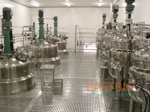 Vaccine Biologicals Fermenter , Lab Scale Bioreactor Fermentor Floor Stand