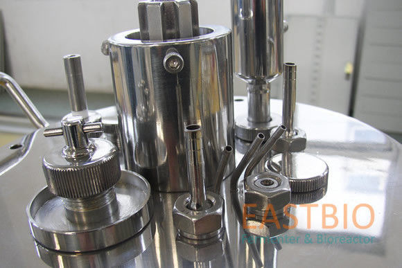 Jacketed Mechanical Stirred Glass Fermenter , Benchtop Bioreactor Servo Motor