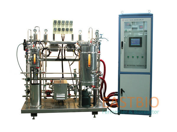 AC Motor Lab Scale Fermentor , Magnetic Stirred Industrial Bioreactors